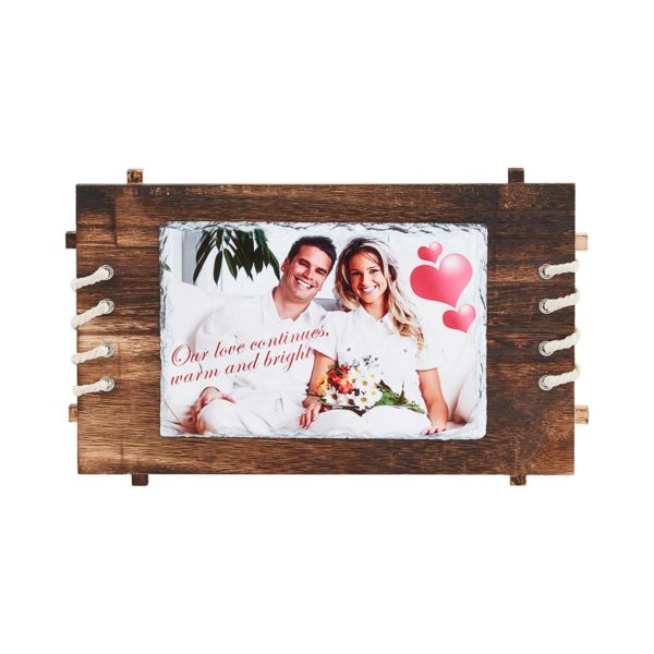 Printed Stone with Wooden Frame