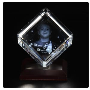 3D Laser Engraved Crystal