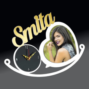 Acrylic name clock
