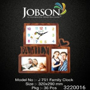 FAMILY COLLAGE CLOCK