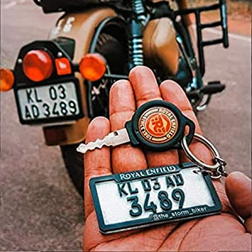 ACRYLIC NUMBER PLATE KEYCHAIN