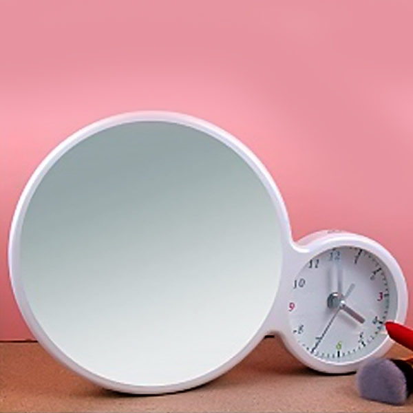 magic mirror with clock