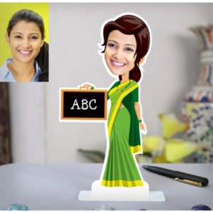 ABC LADY TEACHER PERSONALIZED CARICATURE