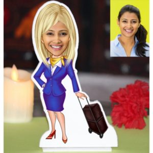 AIR HOSTESS CARICATURE