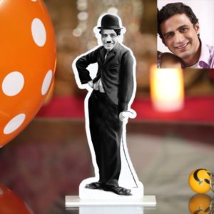 CHARLIE CHAPLIN PHOTO STAND IN