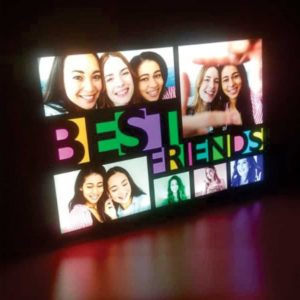 BEST FRIENDS COLLAGE GLOW IN DARK LED FRAME