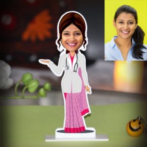 LADY DOCTOR IN SAREE PHOTO STAND