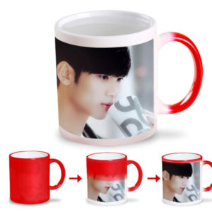 red color changing magic mug