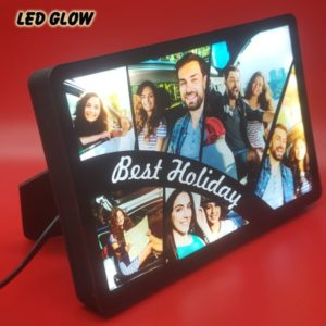 BEST HOLIDAY COLLAGE GLOW IN DARK LED FRAME