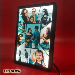 This is a LED photo frame where the picture is permanently printed on the acrylic surface and framed in a LED frame. You can upload 4 pictures to make this unique frame. It runs on electric power. You can directly plug and play, no adapter required. Upload high-resolution photos of your choice to create this personalized photo frame. Frame size: 8 x 6 inch A unique gift for any occasion.