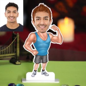 PERSONALIZED BODY BUILDER CARICATURE