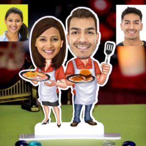 PERSONALIZED CHEF COUPLE CARICATURE