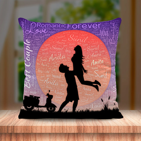 NAME ART CUSHION