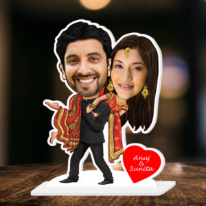 PERSONALIZED FILMY COUPLE CARICATURE