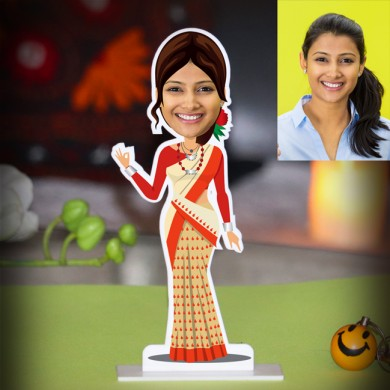 PERSONALIZED LADY FROM ASSAM CARICATURE