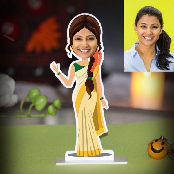 PERSONALIZED LADY FROM KERALA CARICATURE