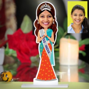 PERSONALIZED MISS INDIA CARICATURE