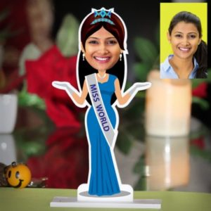 PERSONALIZED MISS WORLD CARICATURE