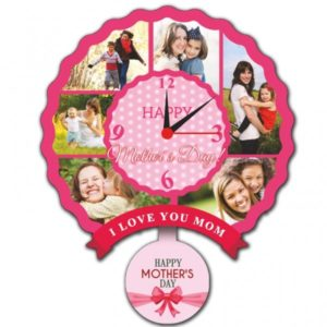 MOTHERS DAY DESIGNED DOOM SHAPED PENDULUM CLOCK