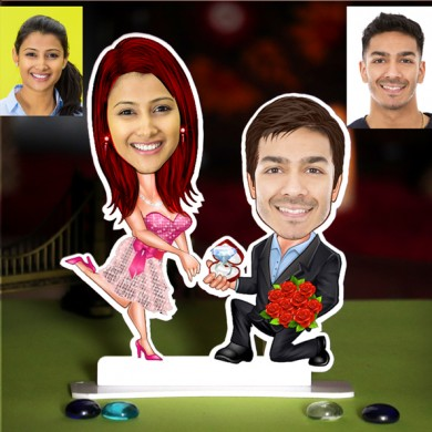 PERSONALIZED PROPOSING COUPLE CARICATURE