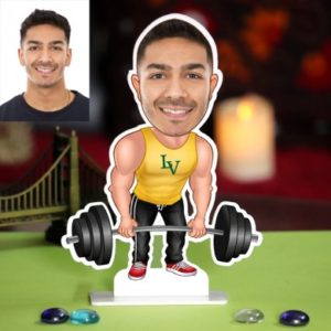 PERSONALIZED WEIGHT LIFTER CARICATURE