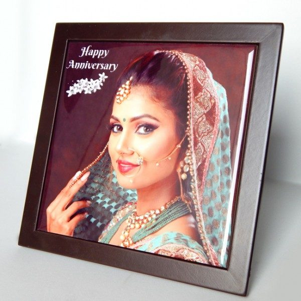 6 X 6 INCH CERAMIC TILE WITH WOODEN FRAME