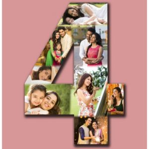 NUMBER HANGING PHOTO COLLAGE